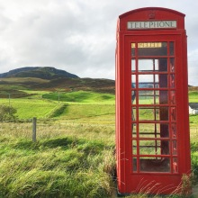 Isle of Skye Red Phone Booth